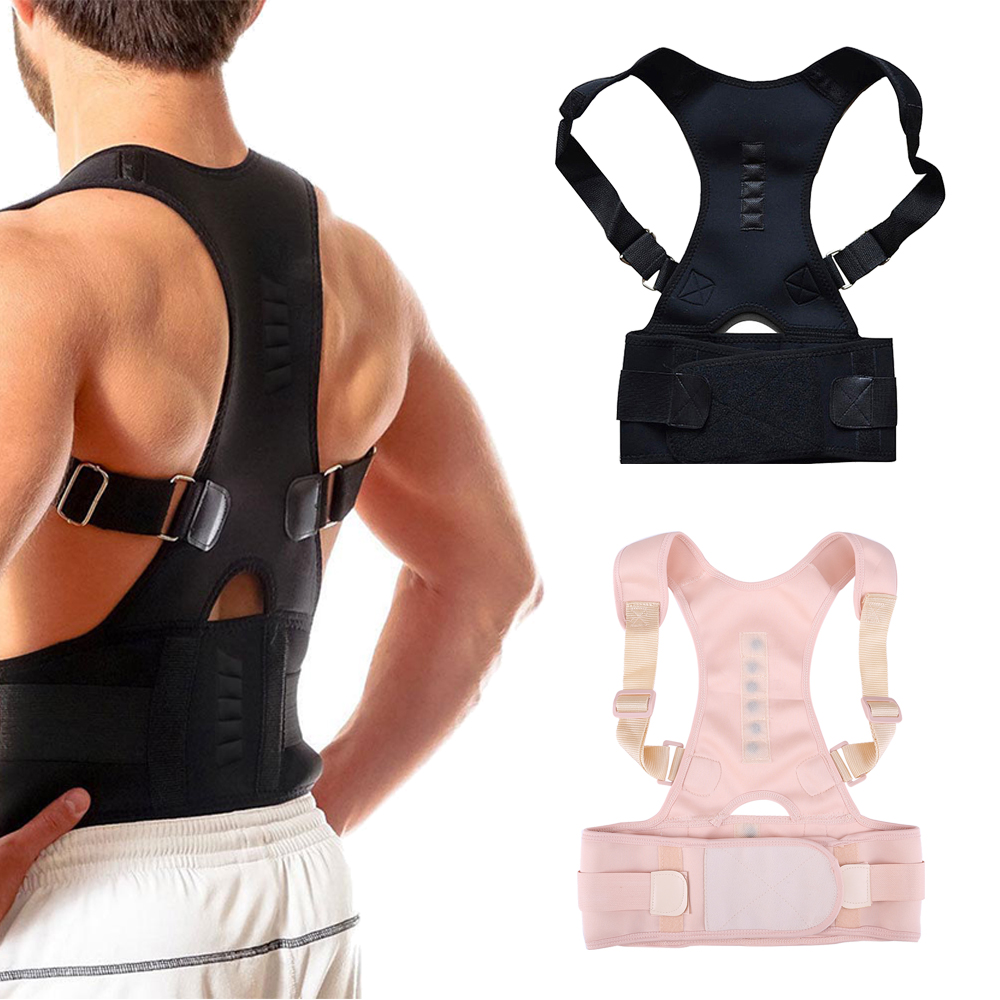 1pc Adjustable Magnetic Posture Corrector Orthopedic Back Support Belt Correct Posture Brace Shoulder Back Support Belt hunchback kids children posture adjustable back support corrector belt brace for boys girls band