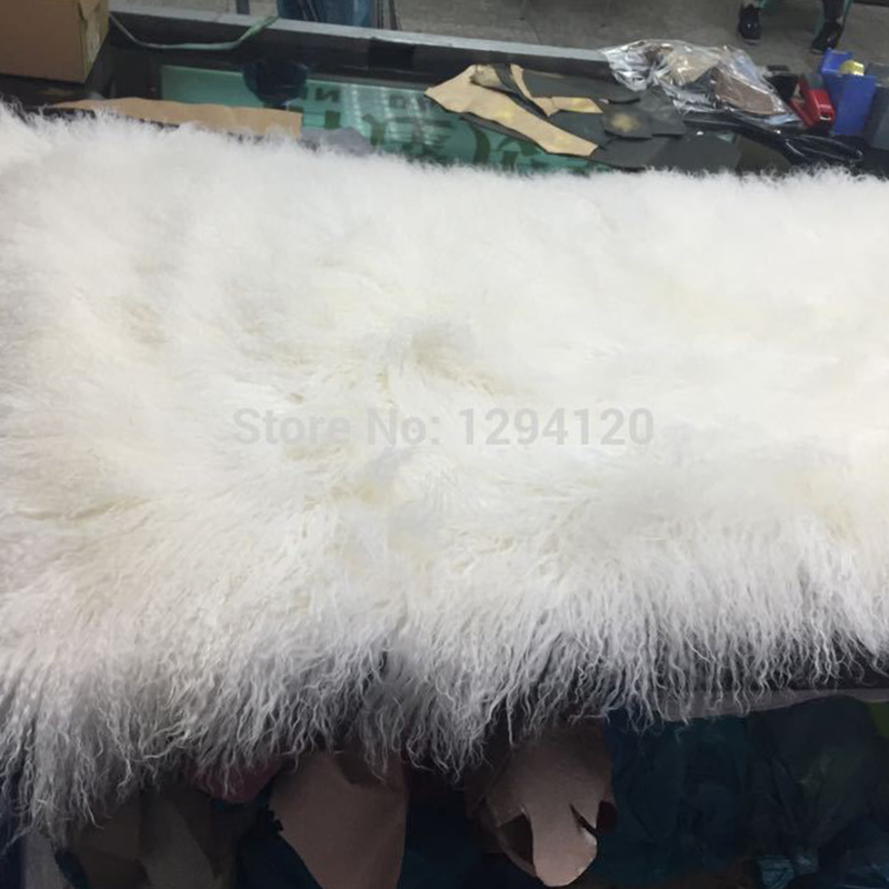 Genuine Lambskin White Fur Plate,Curly White for Home Carpet/ Tatami/Blanket/Carpet,Free Shipping