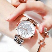 лучшая цена relogio feminino Watch Women Top Brand Luxury Rose Gold Full Steel Quartz Waterproof Wristwatches For Ladies Crystal Dress Clock
