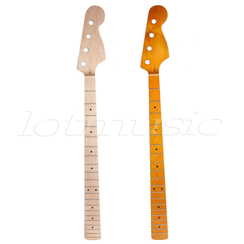 2Pcs Different Maple 21 Fret Bass Neck For Electric Guitar Bass Jazz Bass Replacment gold thumb rest for bass guitar 2pcs