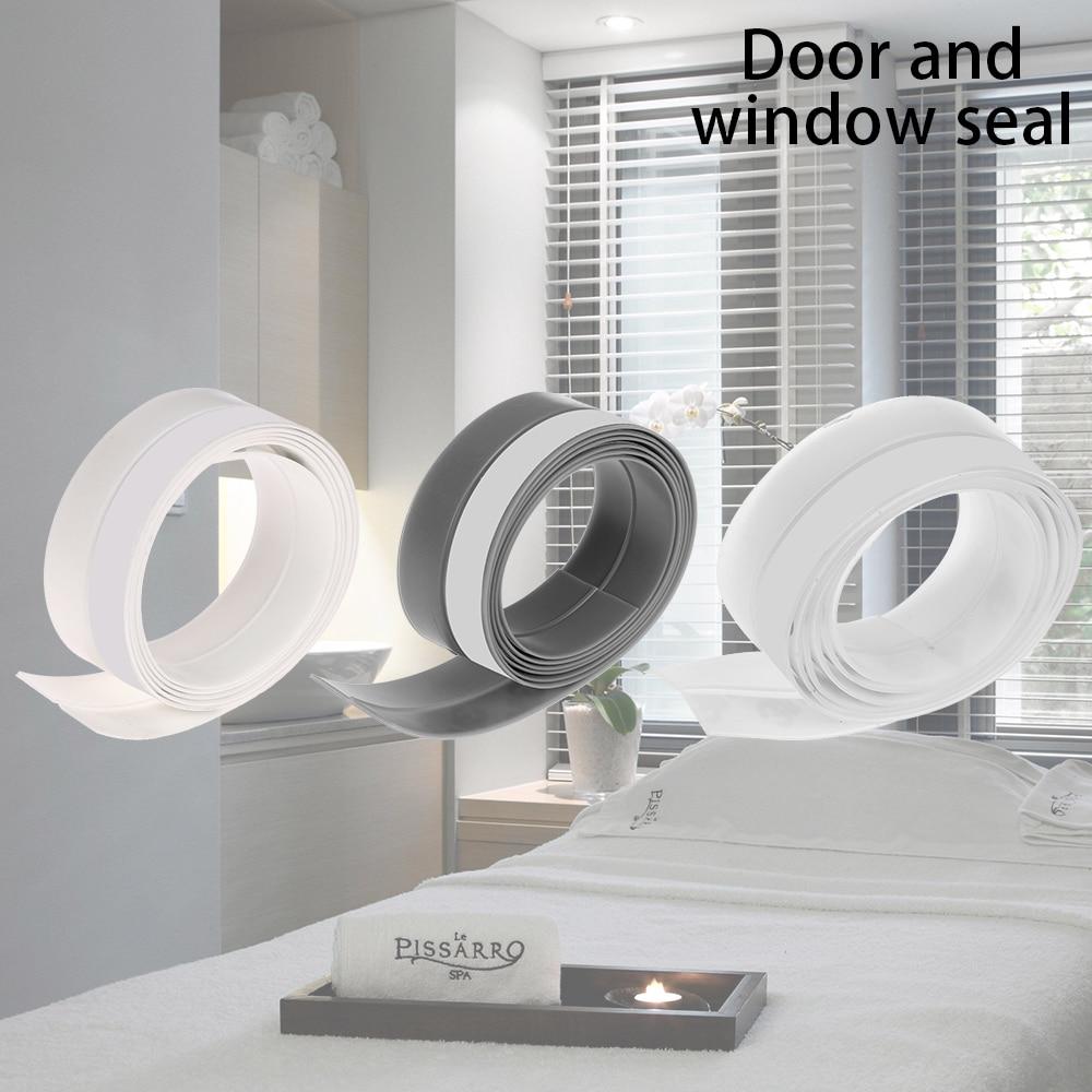 10-15mm Largeur 1 M Longueur Fenêtre Transparent Coupe-vent étanche à L'eau Haute Sur Silicone Bar Porte étanchéité Kitchenstrip Résistant à La Moisissure