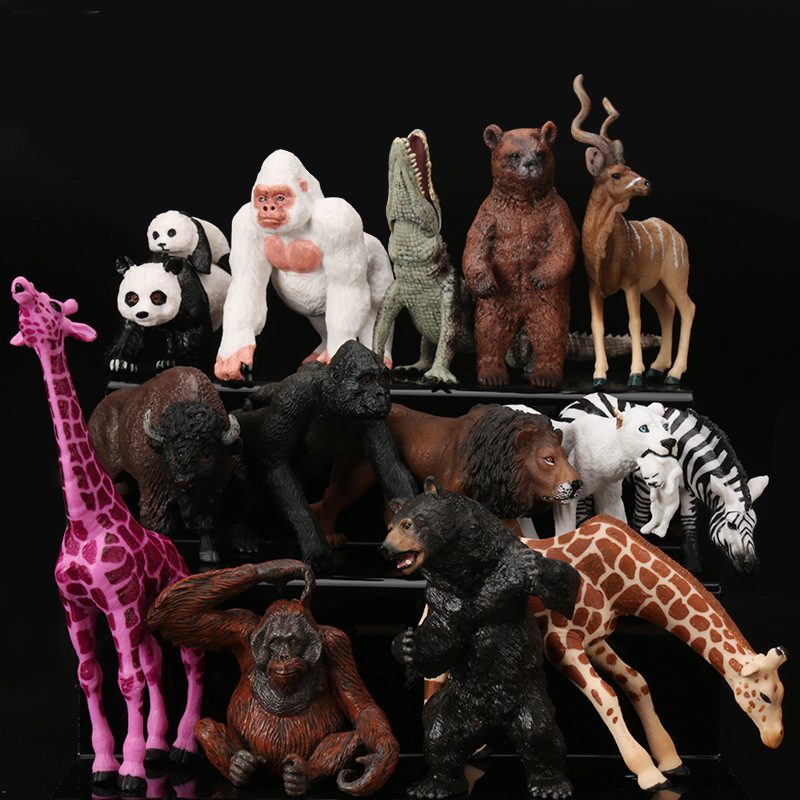 Simulated Animal Gorilla Model Solid Emulation Action Figure Learning Educational Kids Toys for Boys Children Panda Lion ToySimulated Animal Gorilla Model Solid Emulation Action Figure Learning Educational Kids Toys for Boys Children Panda Lion Toy