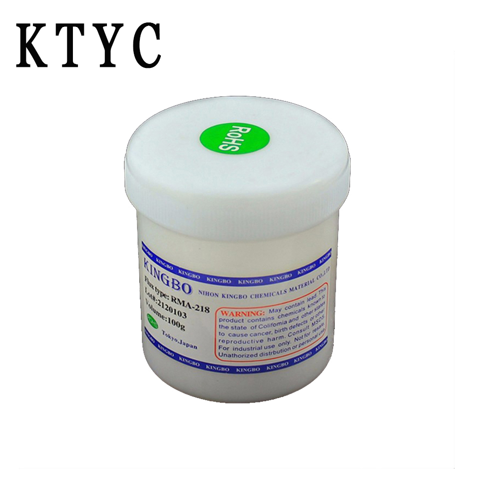 KTYC RMA-218 100g BGA Solder Paste Flux For Reballing Soldering Repair Accessories ( White ) high quality intensity soldering paste solder flux paste grease for ic pcb saffron 150g