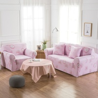 TUTUBIRD Flexible Stretch Sofa Cover Pink Plant Four Seasons Universal Stretch Couch Cover Armchair Loveseat Funiture