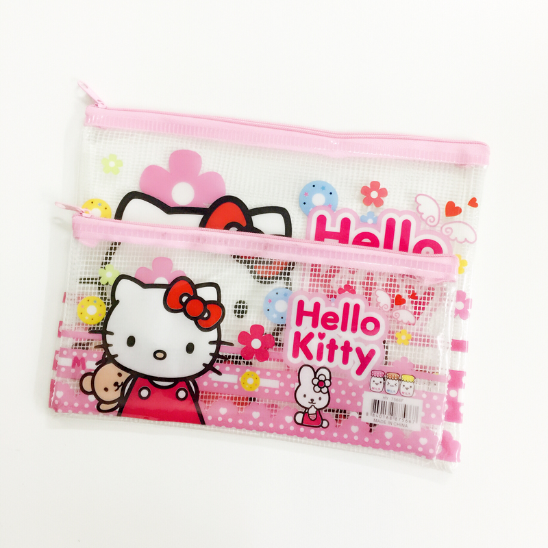 2315a7456 Hello Kitty Phone Bag 1X Cute Kawaii Kids Gift Storage Container Grid  Pencil Pen