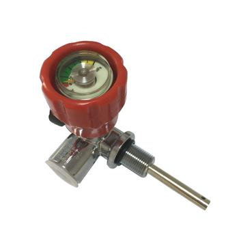AC911 Red Gauge Valve For Pcp Tank Bottle/Scuba Diving/Composite Carbon Fiber Cylinder Valve With Good Quality Drop Shipping