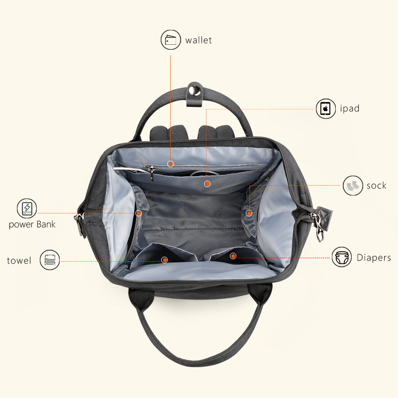 Tigernu Mommy diaper bag large capacity baby nappy bags nursing bag fashion  travel Women backpack bag for mom dad-in Backpacks from Luggage   Bags on  ... 7a616d4cddb95