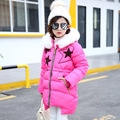 Faux Fur Winter Coats Baby Girls Down Coat Children Girl Clothes Kids Down Jackets Warm Coat Child Outerwear Clothing GH319