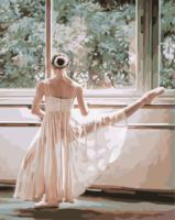 latest diy oil painting Style Frameless Canvas Drawing Wall Art Practice ballet Pictures Painting By Numbers Hand Painted