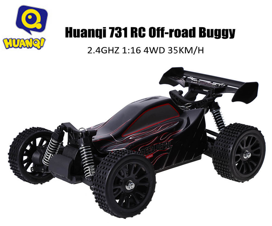 New Arrival Huanqi 731 2.4GHZ 2CH 1:16 4WD High Speed 35KM/H RC Off-road Buggy RTR Vehicle Toy 2016 Racing Remote Control Car new style remote control racing car bot toy 747 2 4g 1 16 4wd high speed off road buggy professional electric rc car vs 94107