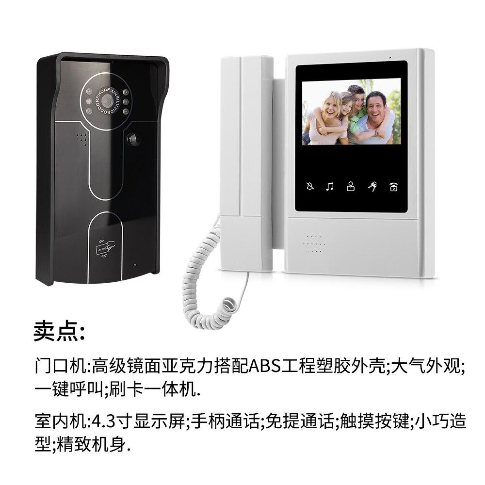 4.3 Pouce Filaire Vidéo Porte Téléphone Système D'interphone XSL-IDP-168