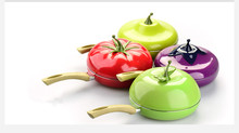 Special Offer Fruit Tomato Frying Pan Fried Steak Colour Saucepan Fried Eggs Smoke-free Non Stick with A Lid Free Shipping