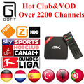 H96 Android TV Box Amlogic S905 German IPTV 2200+ Channels Netherlands Turkish Spain Portaguese Albanian IPTV Adult Hot Club&VOD