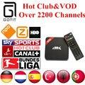 H96 S905 Alemán IPTV Android TV Box Amlogic 2200 + Canales de Holanda Turco España Portaguese Albanés IPTV Adultos Hot Club y VOD