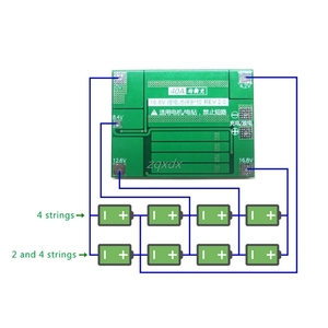 Image 2 - 4S 40A 14.8V 16.8V Li ion Lithium 18650 Battery BMS PCB Protection Board Balance