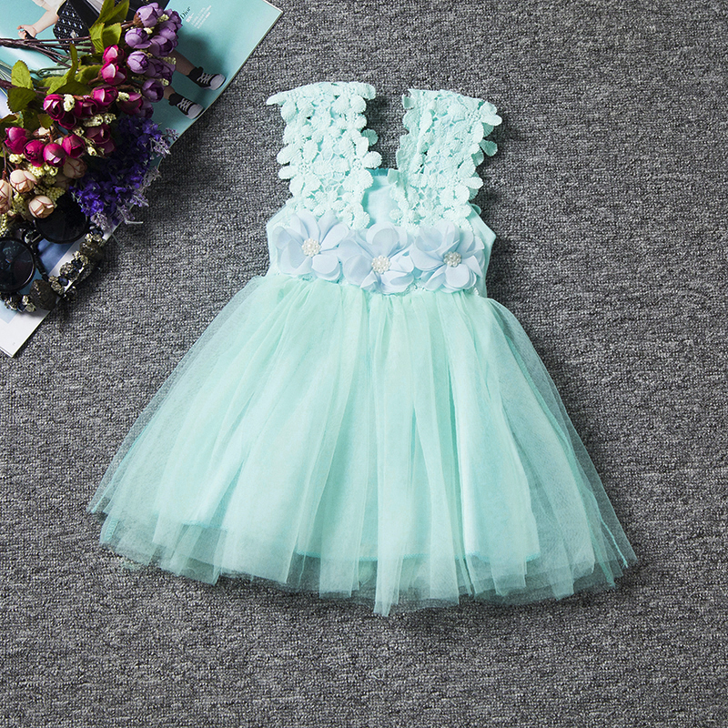 731dc9a4884a1 Baby Girl Clothes Summer Little Princess Lace Flower Tutu Birthday Kids  Dresses For Girl Ceremonies Party