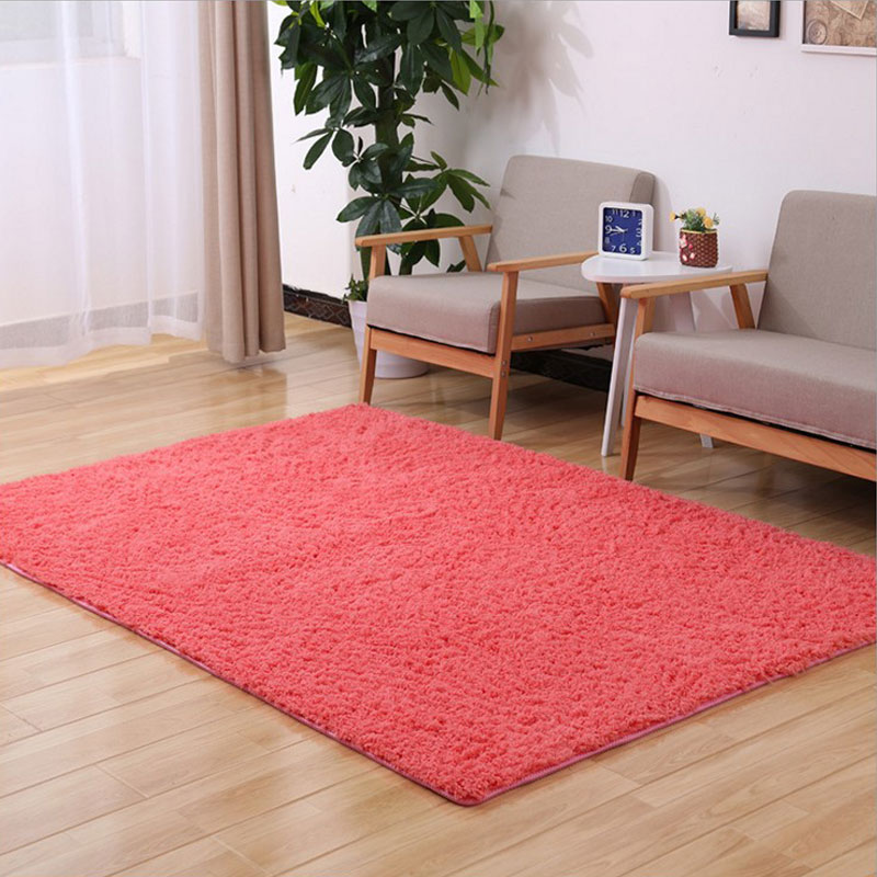200X250CM Shaggy Style Designs Area Rug Red Pink White