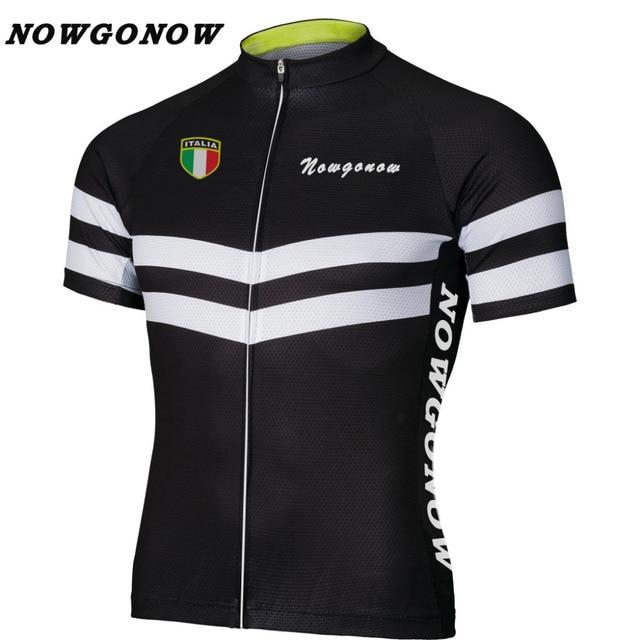 custom logo 2017 cycling jersey pro team clothing bike wear black NOWGONOW  tops road mountain Triathlon CHINA summer Polyester 14a50bdcb