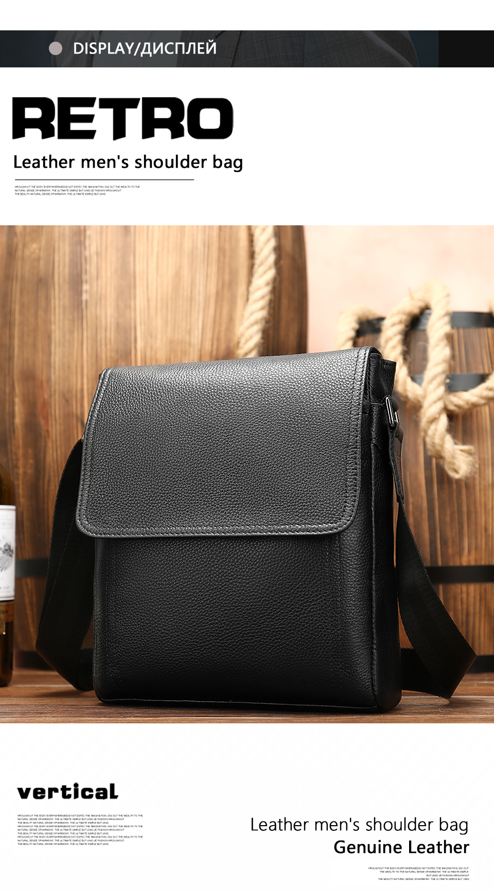 6 Famous Brand Leather Messenger Men's Shoulder Bag Male Casual Business Crossbody Tote Bags for Men Small Flap Handbag bolsas