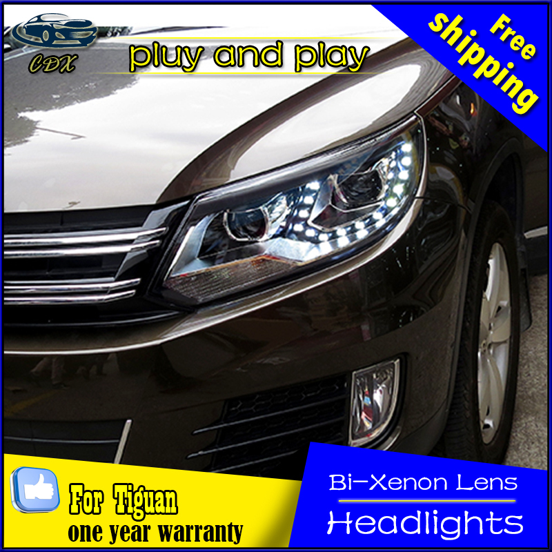 Car Styling Head Lamp for VW Tiguan LED Headlight 2013-2015 Tiguan Headlights DRL Daytime Running Light Bi-Xenon HID Accessories car styling headlights for toyota rav4 led headlight 2013 2015 for rav4 head lamp led daytime running light q5 lens bi xenon hid