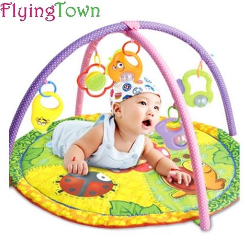 FlyingTown tapis de jeu bébé 0-24 mois bébé jouet jeu garçons filles tapis rampant éducatif jouer Gym enfants tapis jouets