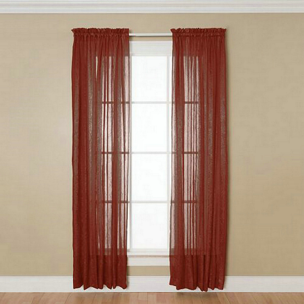 Modern Curtain Cheap Window Curtain Solid Curtains for Living Room Viole Curtain Popular Sheer  Drapes 1pc