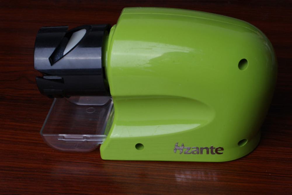 Electric Knife Sharpener Multi-functional Motorized Knife Blade Sharpener, Home Kitchen Knives Sharpening Tool Green