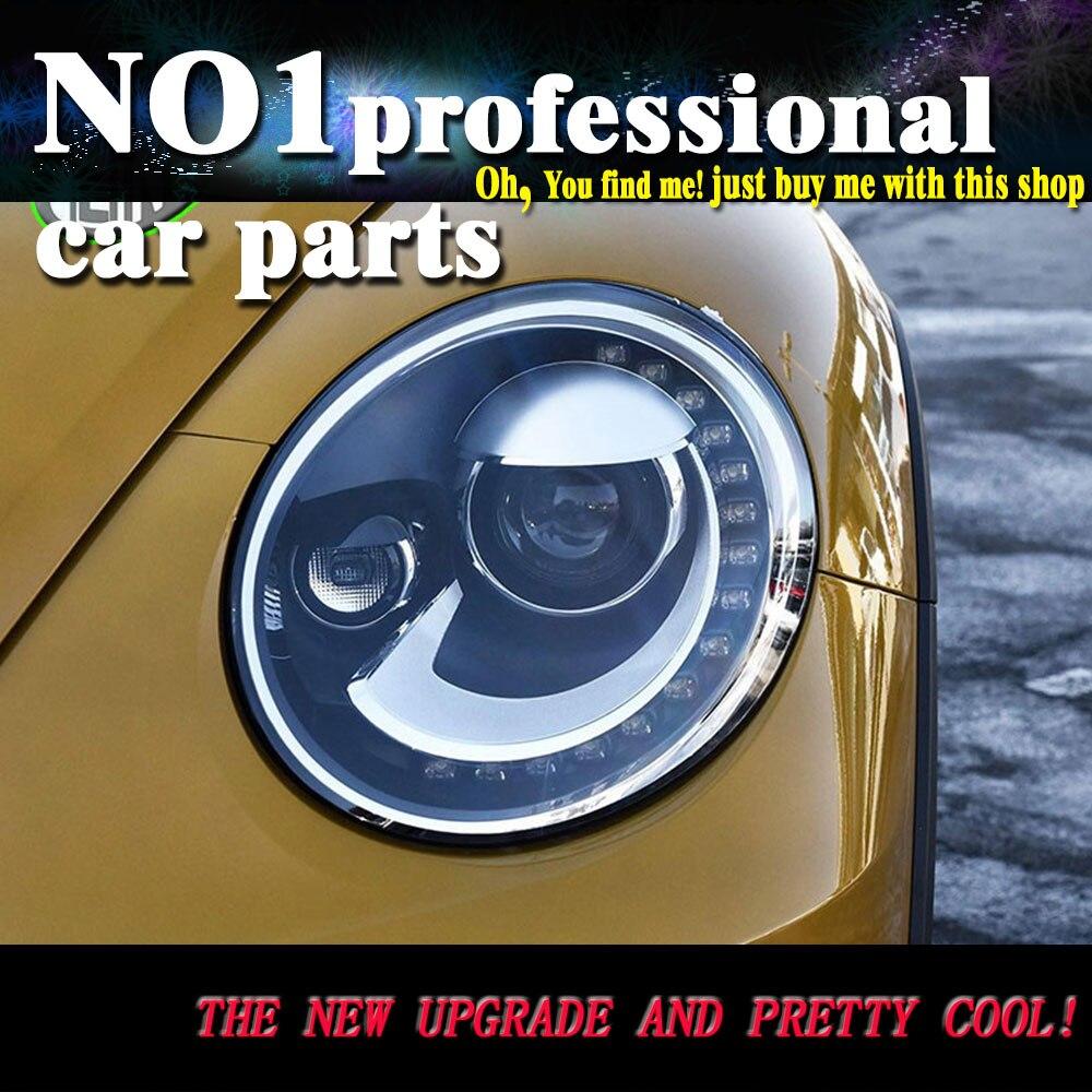 OUMIAO стайлинга автомобилей Светодиодный фара для VW Beetle фары Жук светодиодный фар светодиодный drl H7 hid Q5 Би ксеноновые линзы ближнего света