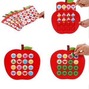 Image 3 - 子供木製の Apple メモリマッチングチェスゲーム早期教育 3D パズルファミリーカジュアルゲームパズル理想的なクリスマスギフト