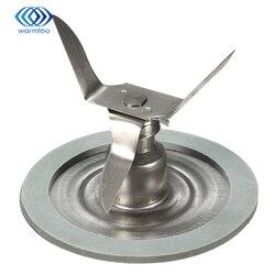 Nueva llegada licuadora piezas de acero inoxidable 304 plata cuchillas para mezcladora + anillos de sellado 65mm x 50mm para mezcladoras Oster