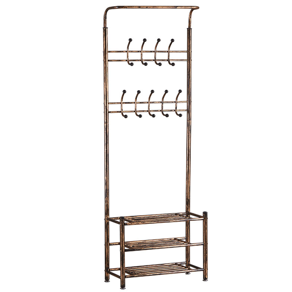 clothing rack hat rack bedroom furniture Coat Rack nonwovens  With stool Stainless steel Simple Assembly can be removed Bedroom Coat Racks     -