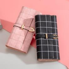 AOEO wallet female multifunctional long clutch Girls with zipper card holders cell phone bag ladies Pocket women wallets purse