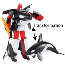 Science Toys For Kids Shark Animal Deformation Robot Souvenir Puzzle Robot Technology Educational Toys For Boys Inventions