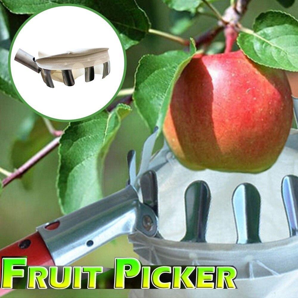 Garden Tools Bag Fruit Picker Head For Apple Peach Pear Orange Pickers UK TE65