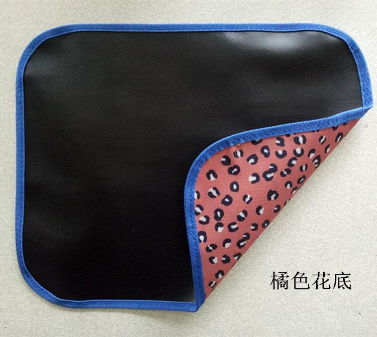 Детские мягкие черные коврики на доске могут быть сложены из путешествия дома, могут быть окрашены мелом - Цвет: orange