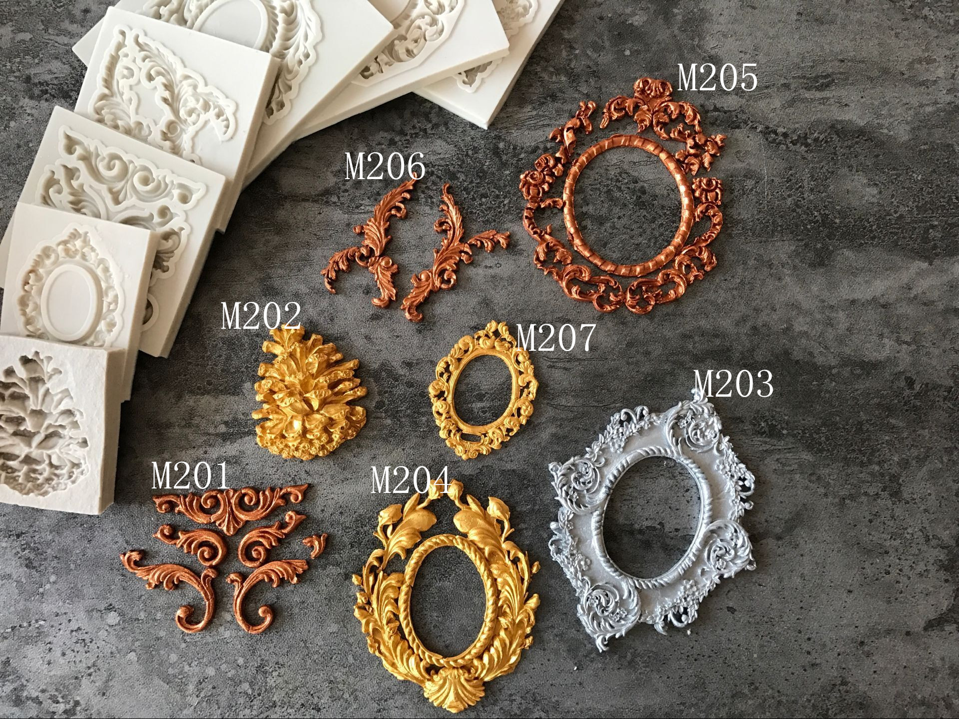 1PC Classic Pattern Pendant DIY Silicone Mold Dried Flower Jewelry Accessories Tools Equipments Resin Molds