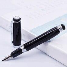 Duke Tutor Penna Stilografica Classico, Nero Barile di Perle in Bianco e sulla Parte Superiore, ideale per Ufficio Affari di Casa o Regalo