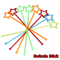 2016 Newest 25pcs/lot Mixed-color Plastic Star Design Cocktail Drink Stirrers Swizzle Stick Bar Tools Free Shipping