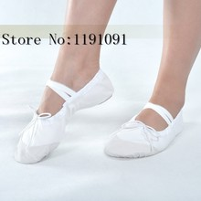 4 Color Womens Professional Soft Flats Peep Toes Ballet Dance Shoe Ladies Girls Belly Dancing Shoes