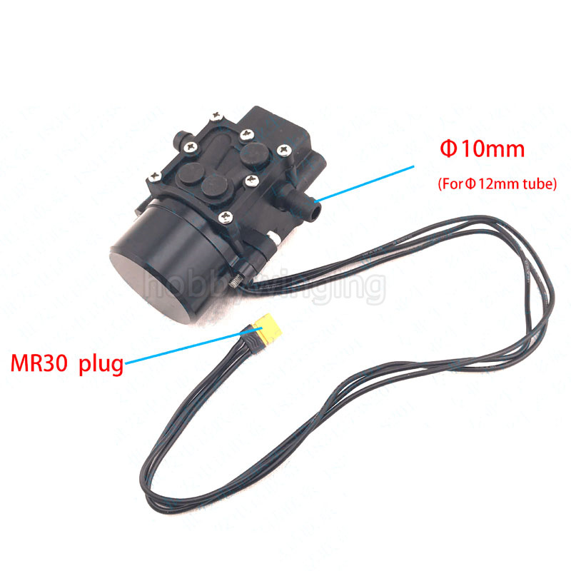 Mute Mini Brushless Water Pump Miniature pressure diaphragm pump 45W 1MPa for Agricultural Plant Protection UAV miniature pressure gauge surface diameter 40 y40 0 1 6mpa miniature barometer