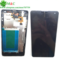 Original E975 LCD Touch Panel With Frame For LG Optimus G LS970 F180 E973 E975 LCD Display Touch Screen Digitizer Frame Assembly