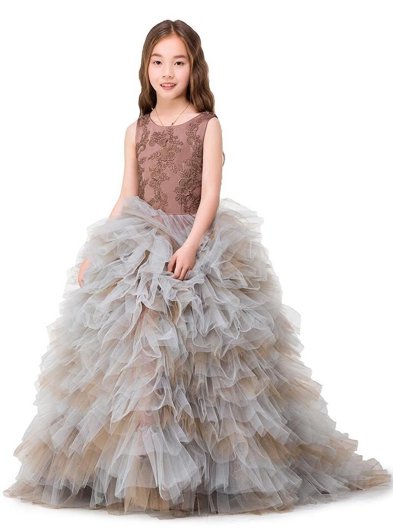 Mutter Tochter Brautkleider Frauen Baby Abendkleid Familie Kleidung Kinder Ballkleid Leistung Formal Wear Mädchen Rock - 2