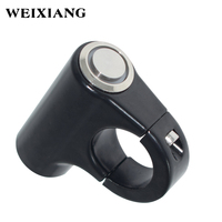 22mm Aluminum Alloy Led Indicator Light Handlebar Mount Switch ON OFF For Headlight Hazard Brake Fog