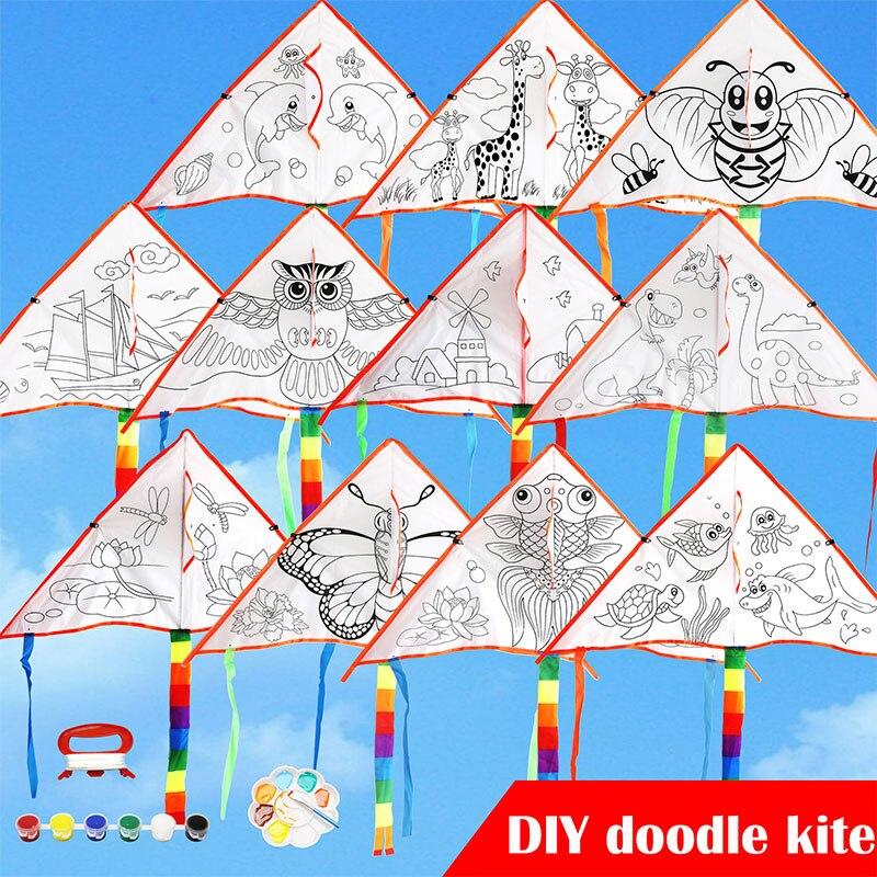 2019 Lightweight Graffiti Kite 1 Set Outdoor Diy Kite For Creative Kite Kit Drop Shipping
