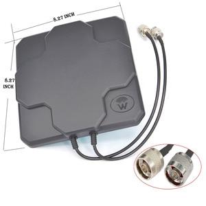 Image 3 - 2 * 22dBi חיצוני 4G LTE MIMO אנטנה כפולה קיטוב פנל כיוונית חיצוני Antenne עבור Wirness N / SMA זכר 20cm כבל