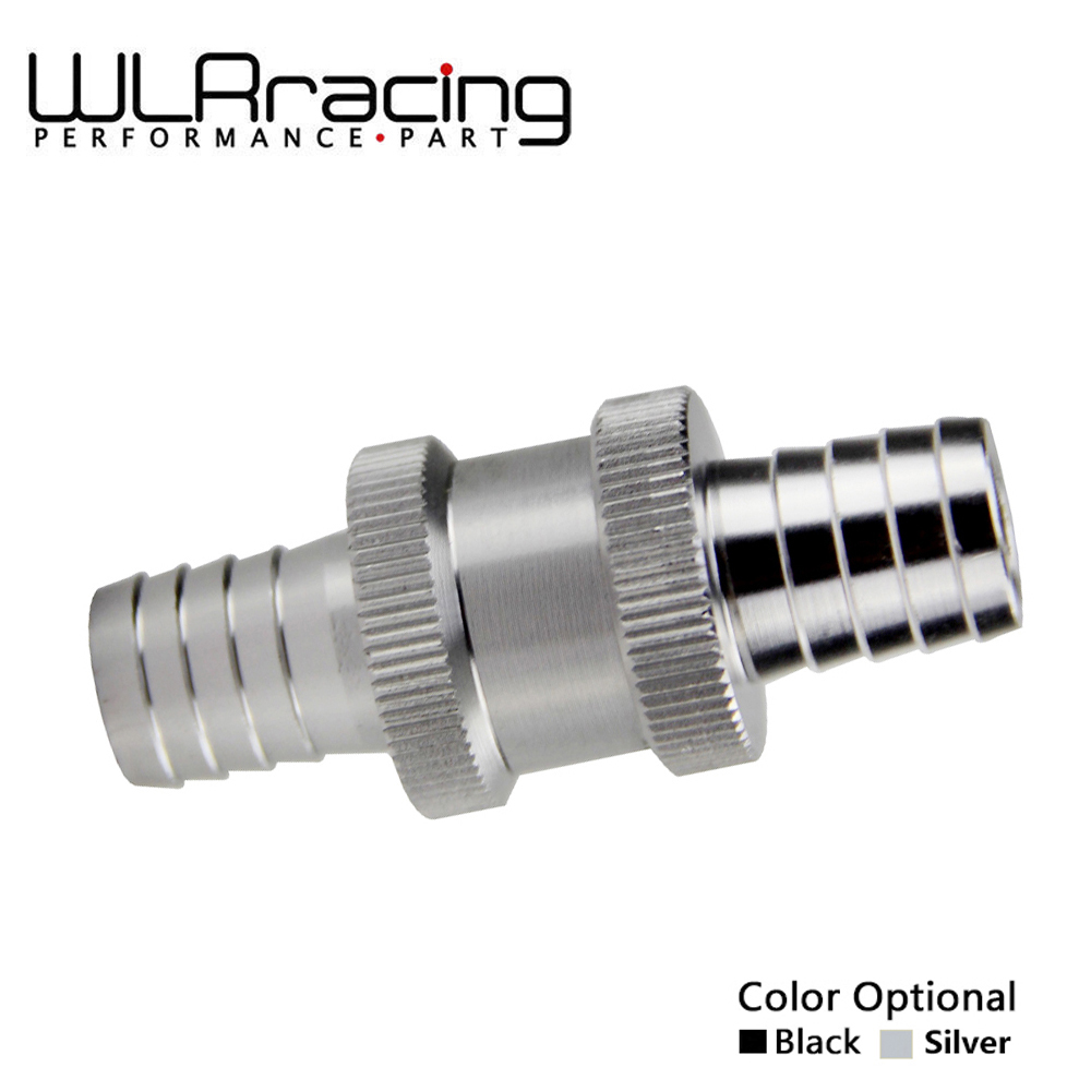 WLR RACING - 1/2 12mm Non Return One Way Fuel Check Valve Aluminium Alloy Petrol Diesel WLR-FCV12