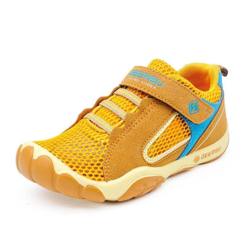 2018 الصيف الاطفال أحذية الأولاد حذاء تنفس شبكة الهواء جلد مريح الأطفال عارضة الأحذية الرياضية للأطفال حذاء الصبي الأحذية