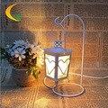 Novo cristal de sal do himalaia quarto lâmpada lâmpada de cabeceira luz da noite criativo Continental ferro 110 V 220 V e17