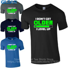 T Shirt Store Online  Printed O-Neck Short-Sleeve Cheap I DonT Get Old Level Up Gamers Inspired Kids Tee For Men