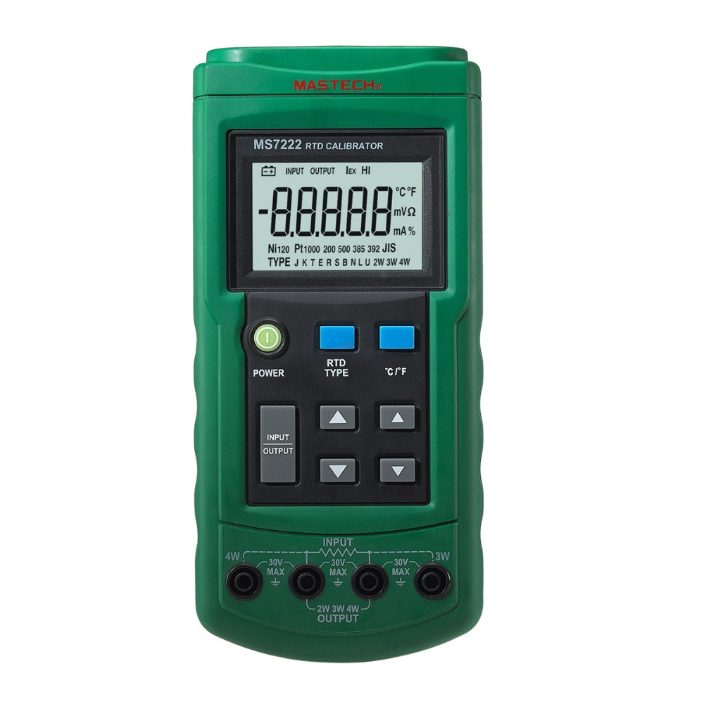 MASTECH MS7222 RTD Resistance Temperature Detector Calibrator Measuring & Simulating 7 RTDs diagnostic-tool